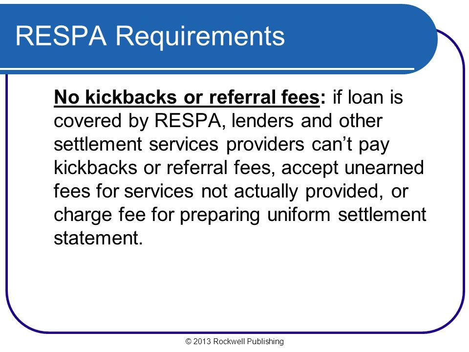 RESPA Requirements