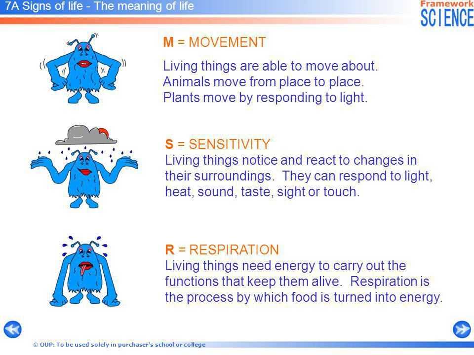 Living things notice and react to changes in