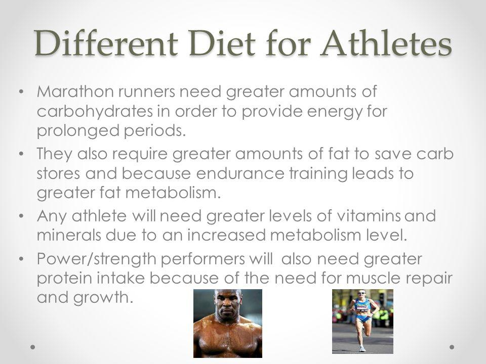 Different Diet for Athletes