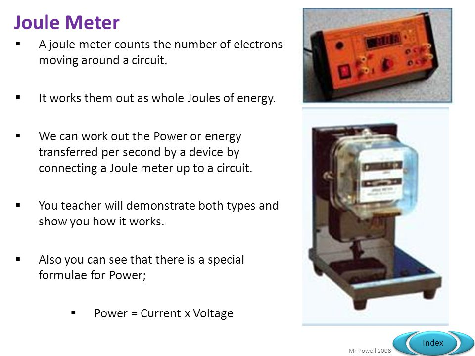 Power = Current x Voltage