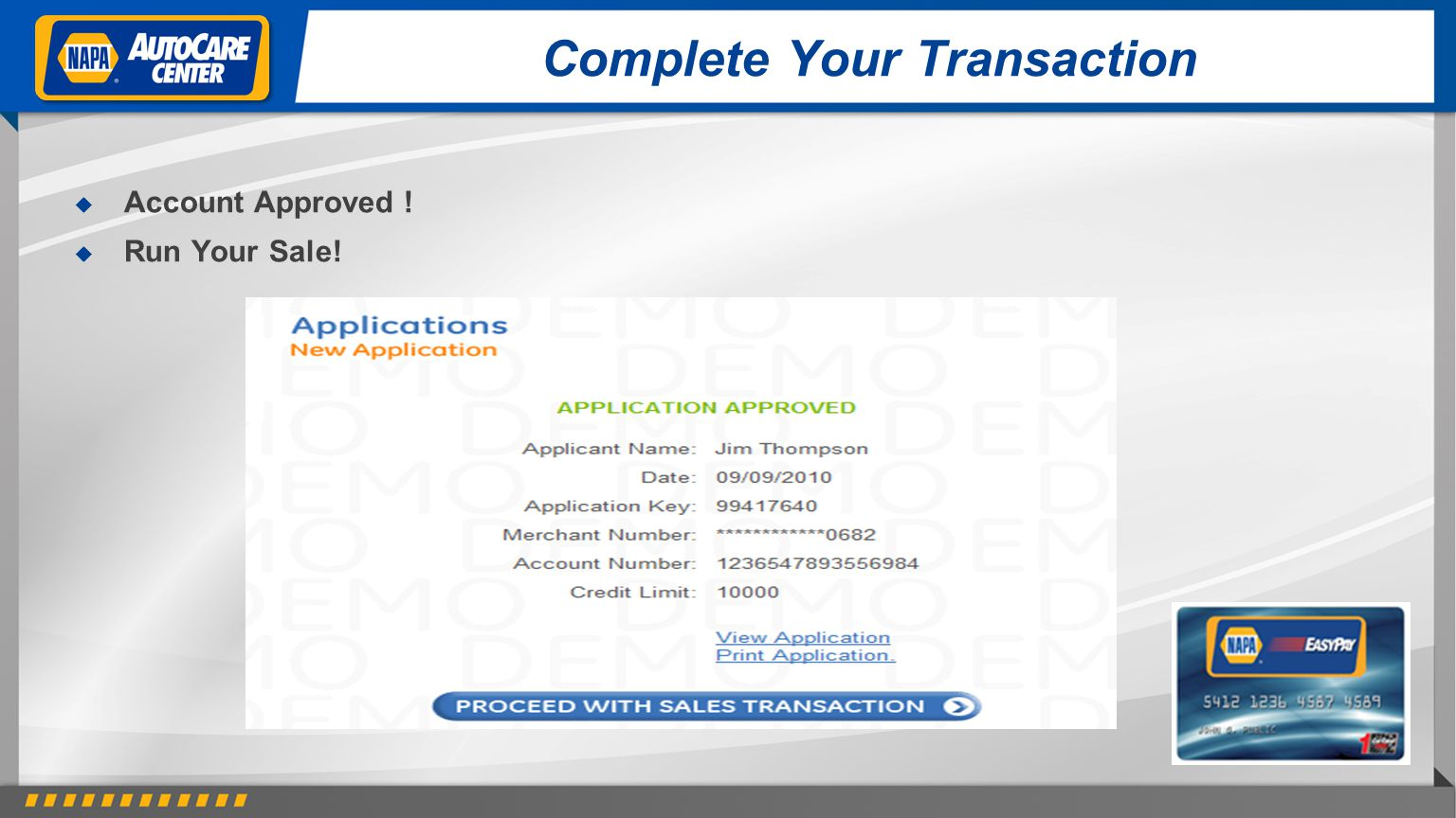 Complete Your Transaction