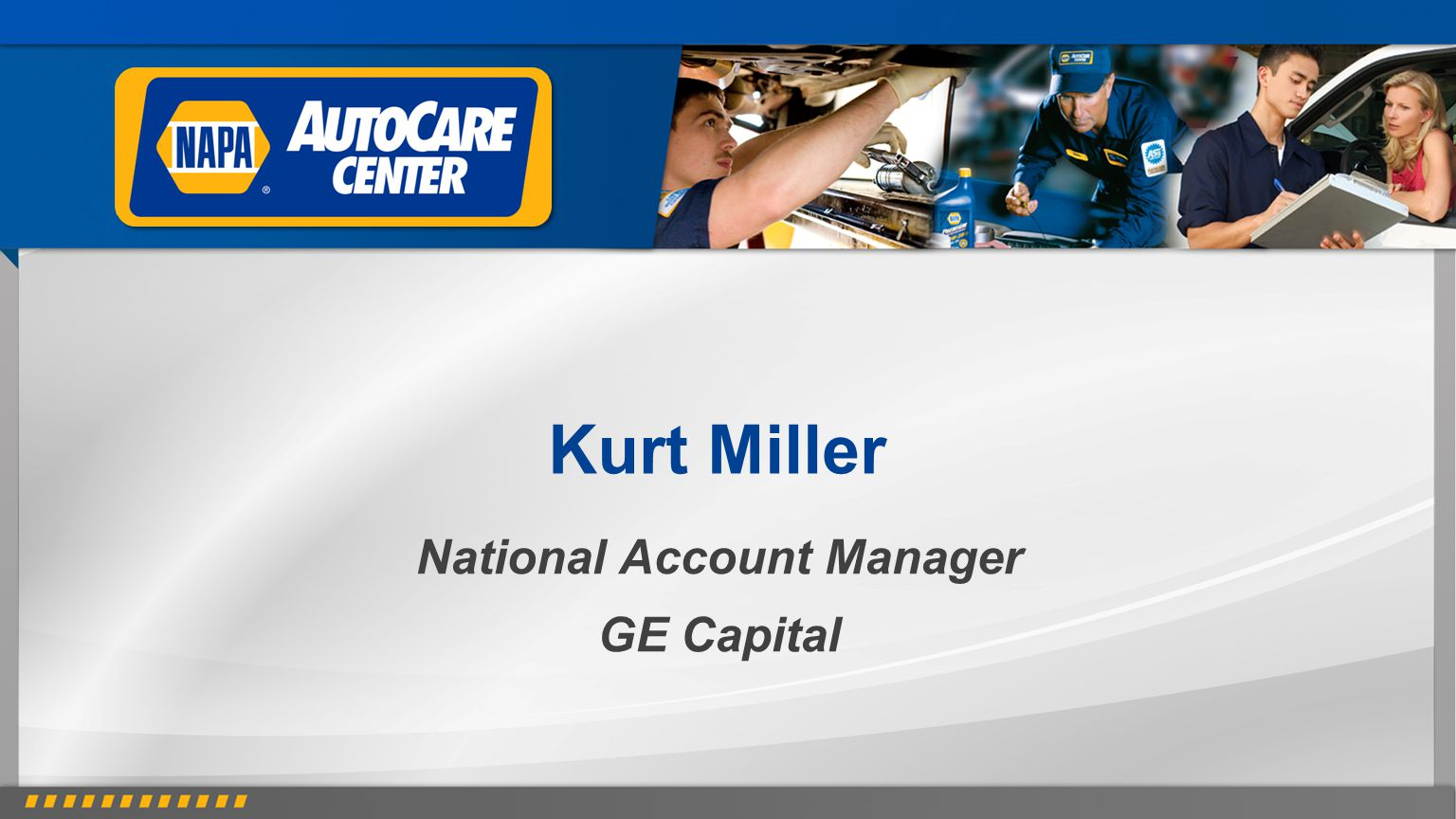 National Account Manager GE Capital