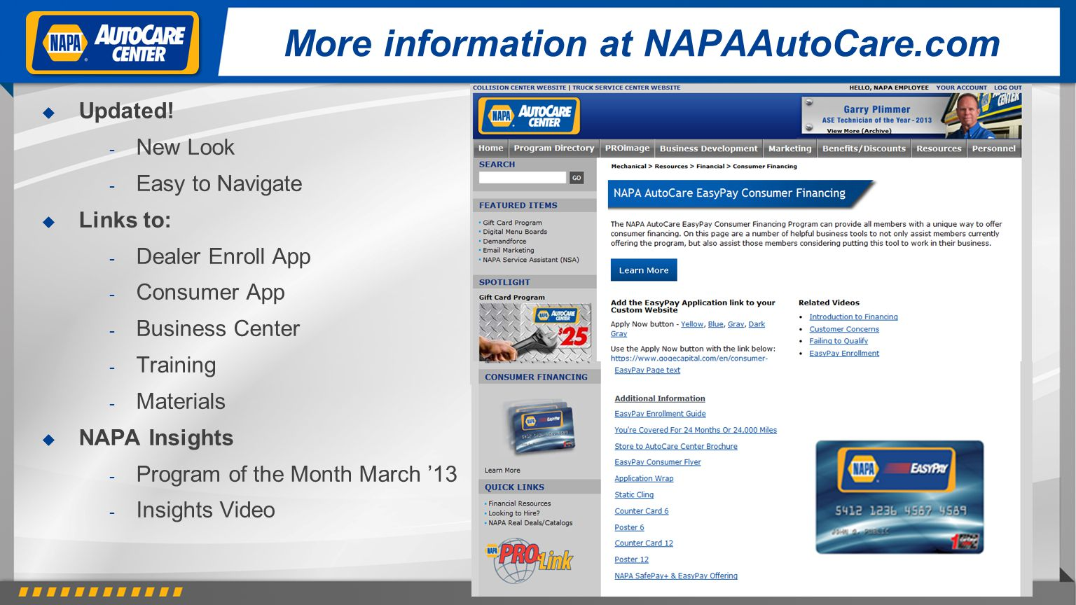 More information at NAPAAutoCare.com