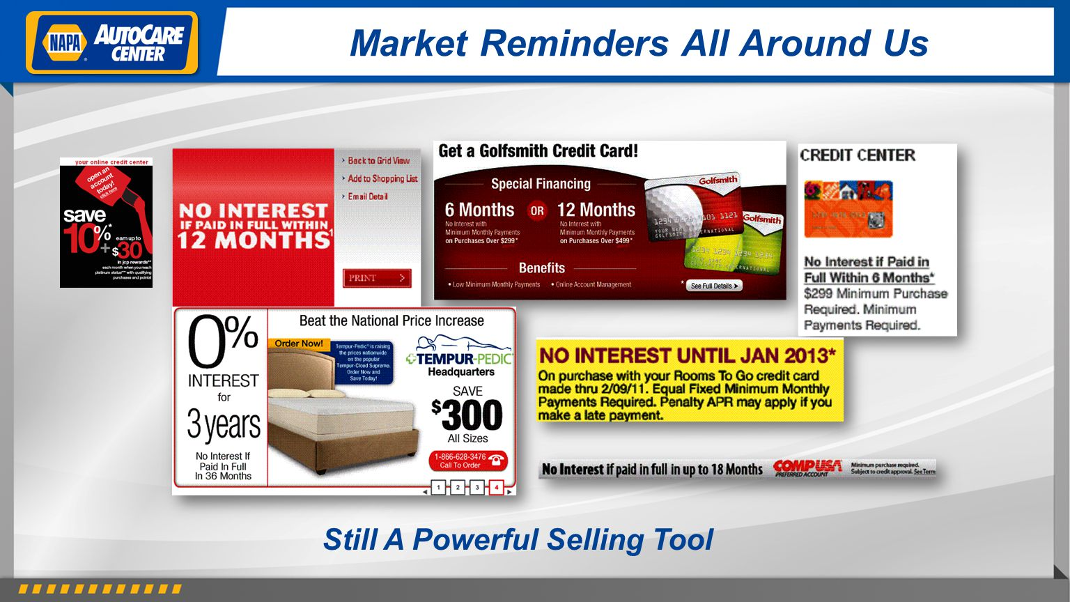Market Reminders All Around Us