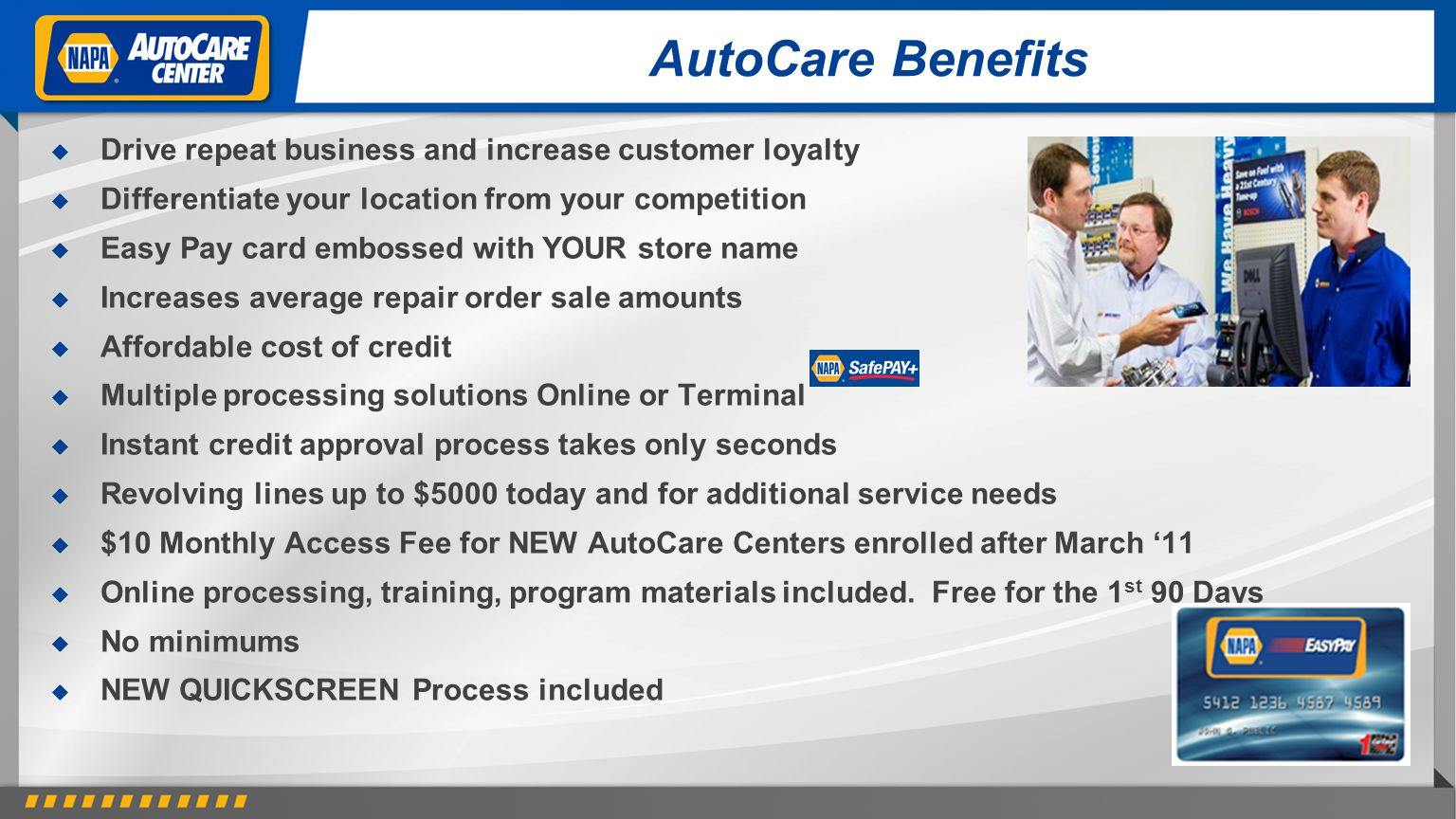AutoCare Benefits Drive repeat business and increase customer loyalty
