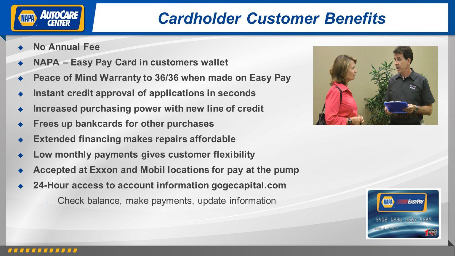 Cardholder Customer Benefits