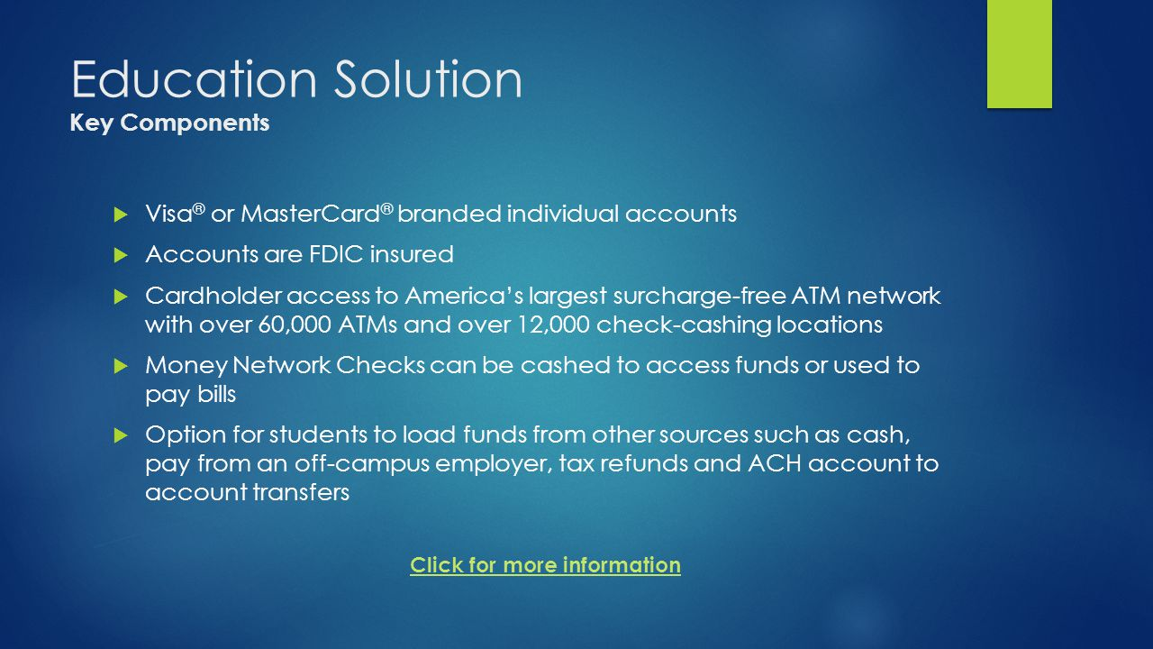 Education Solution Key Components