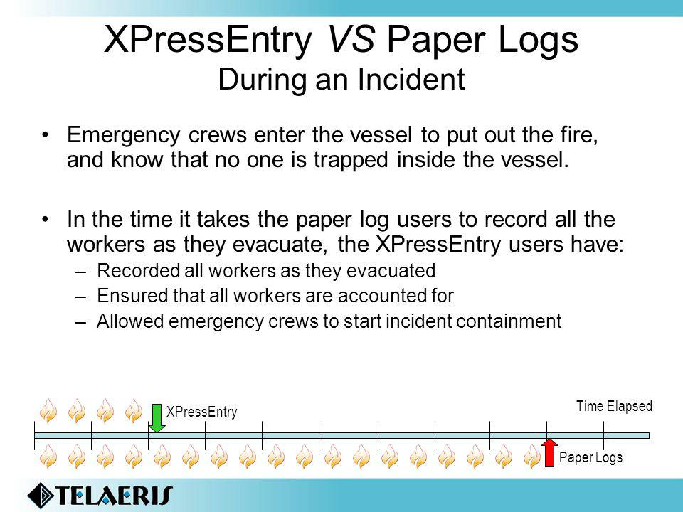 XPressEntry VS Paper Logs During an Incident
