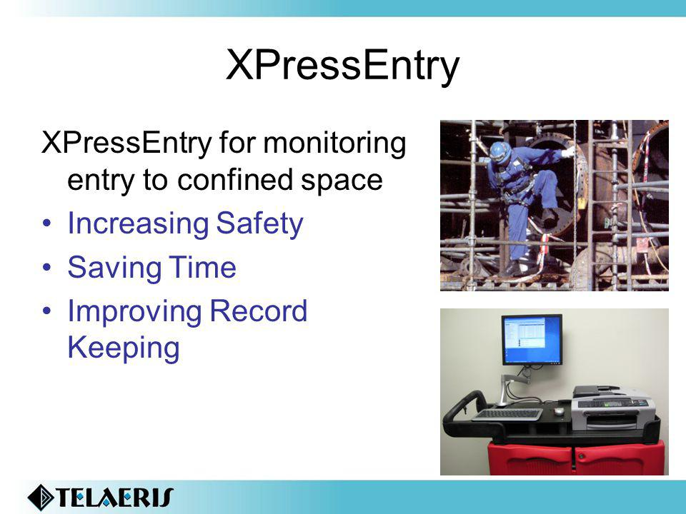 XPressEntry XPressEntry for monitoring entry to confined space