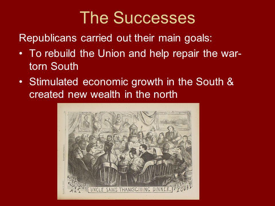 The Successes Republicans carried out their main goals: