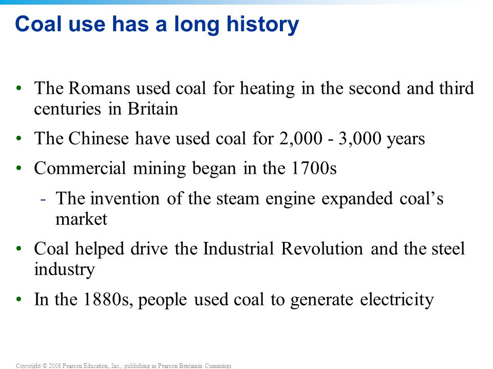 Coal use has a long history