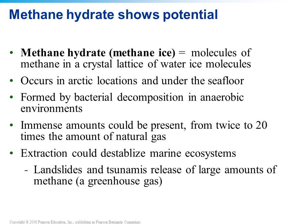 Methane hydrate shows potential
