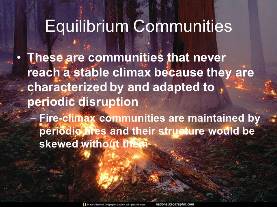 Equilibrium Communities