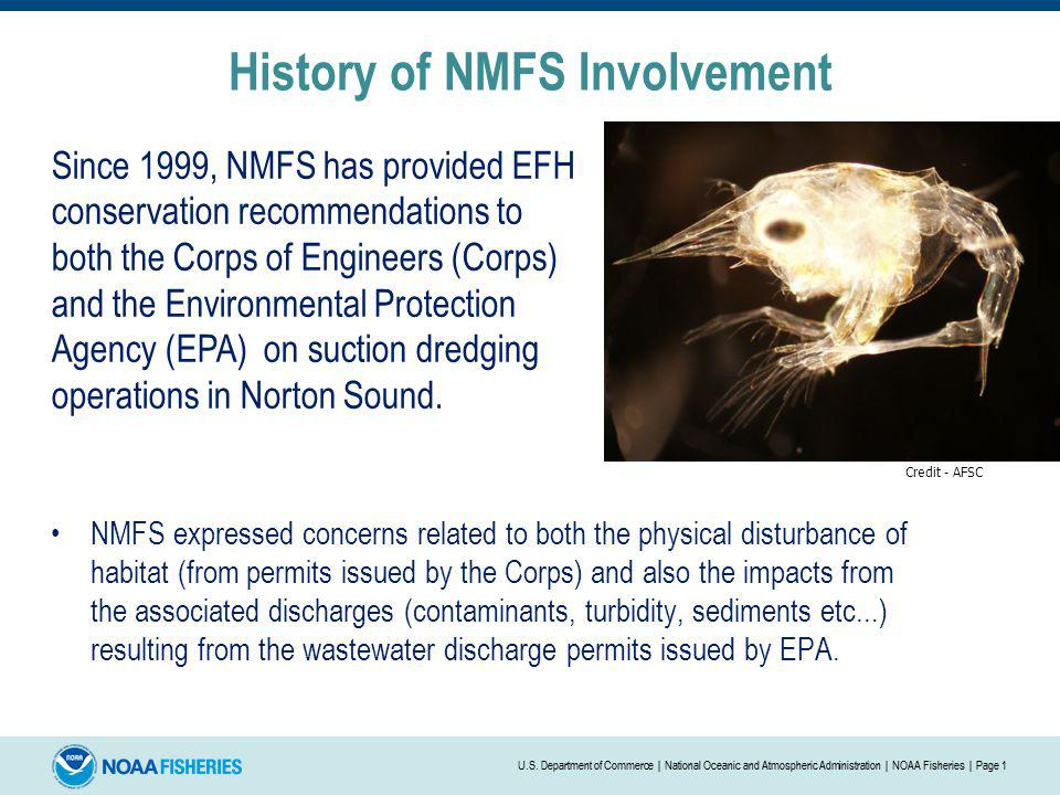 History of NMFS Involvement