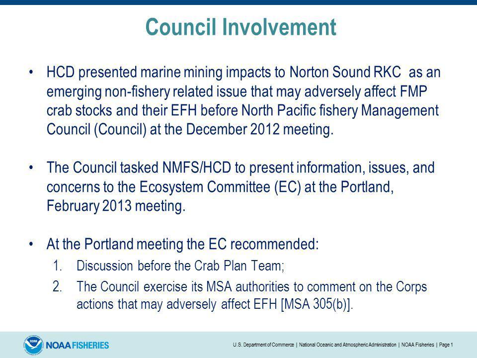 Council Involvement