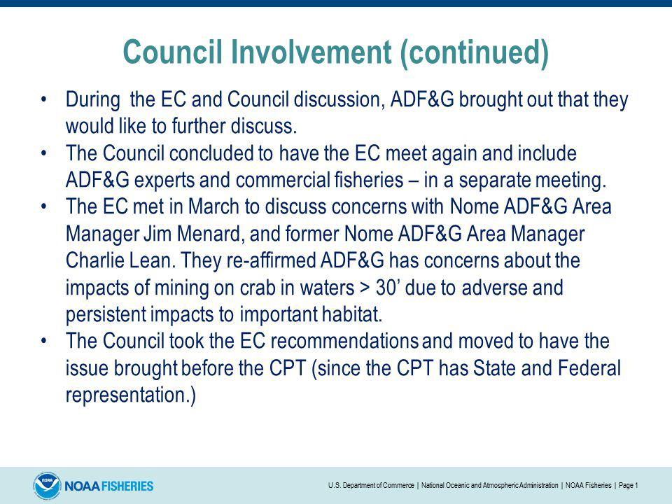 Council Involvement (continued)
