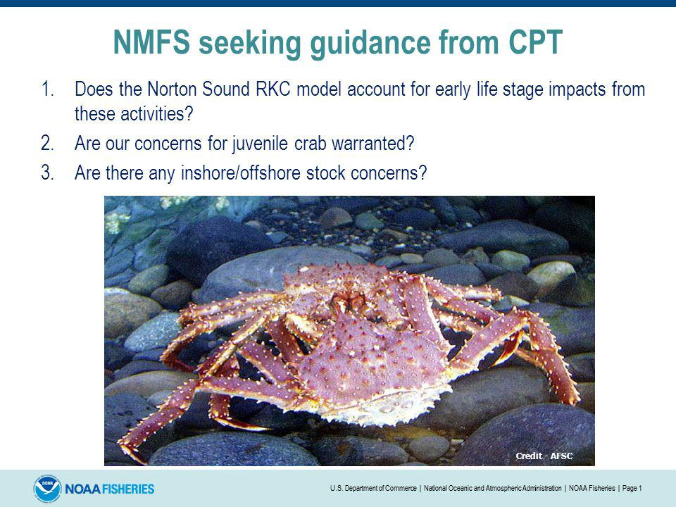 NMFS seeking guidance from CPT