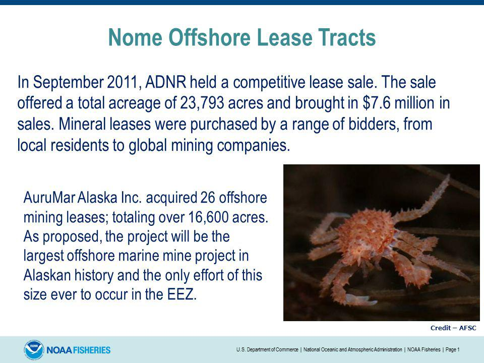 Nome Offshore Lease Tracts