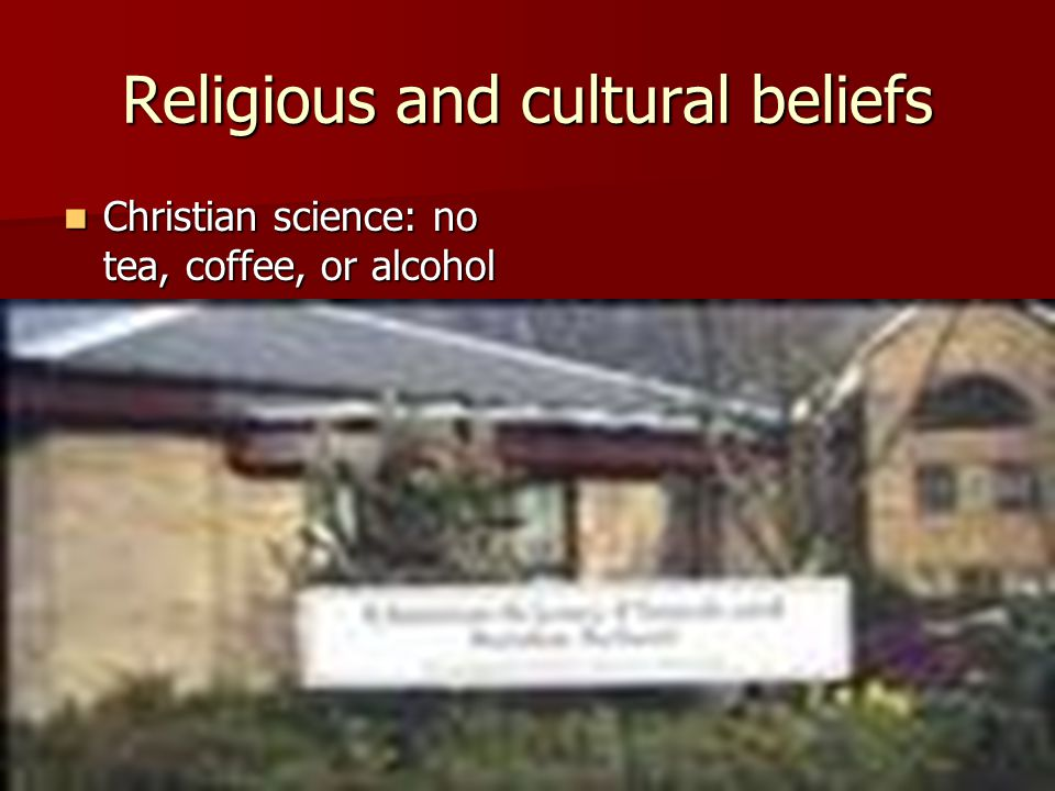 Religious and cultural beliefs