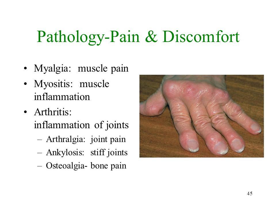 Pathology-Pain & Discomfort