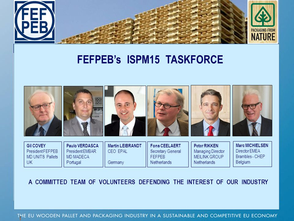 FEFPEB's ISPM15 TASKFORCE