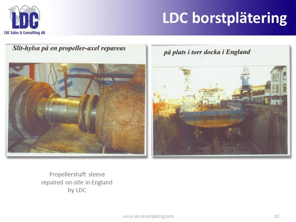 Propellershaft sleeve repaired on-site in England by LDC