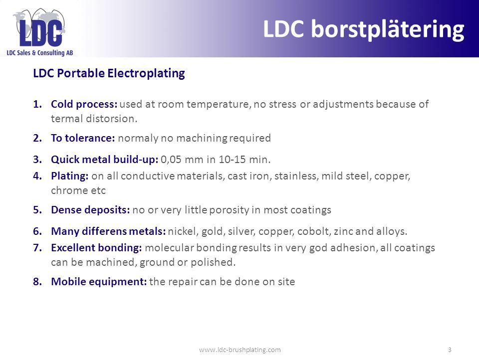 LDC borstplätering LDC Portable Electroplating