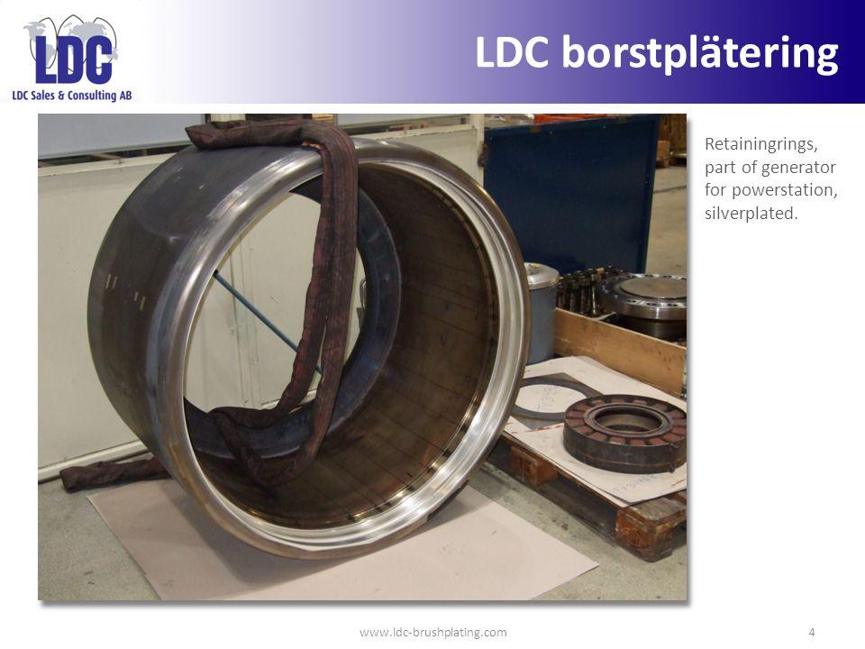 LDC borstplätering Retainingrings, part of generator for powerstation, silverplated.