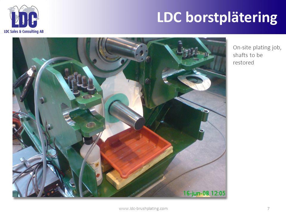 LDC borstplätering On-site plating job, shafts to be restored