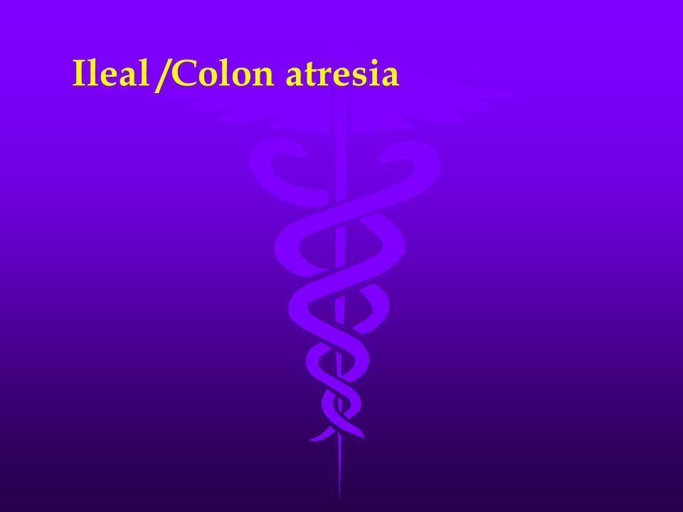 Ileal /Colon atresia
