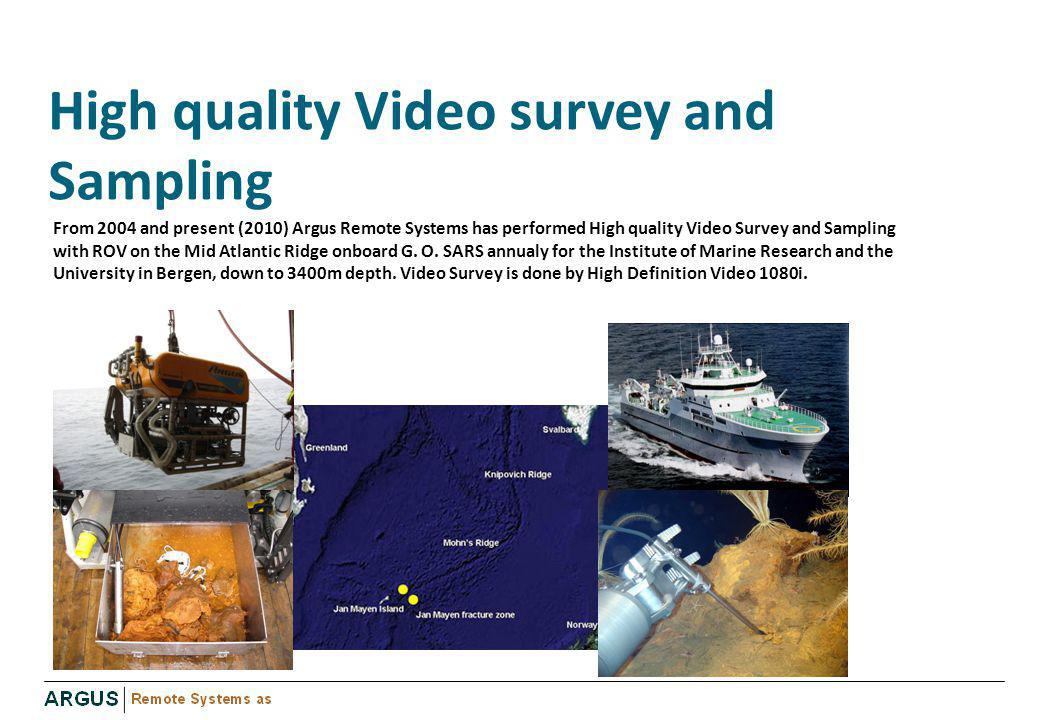High quality Video survey and Sampling