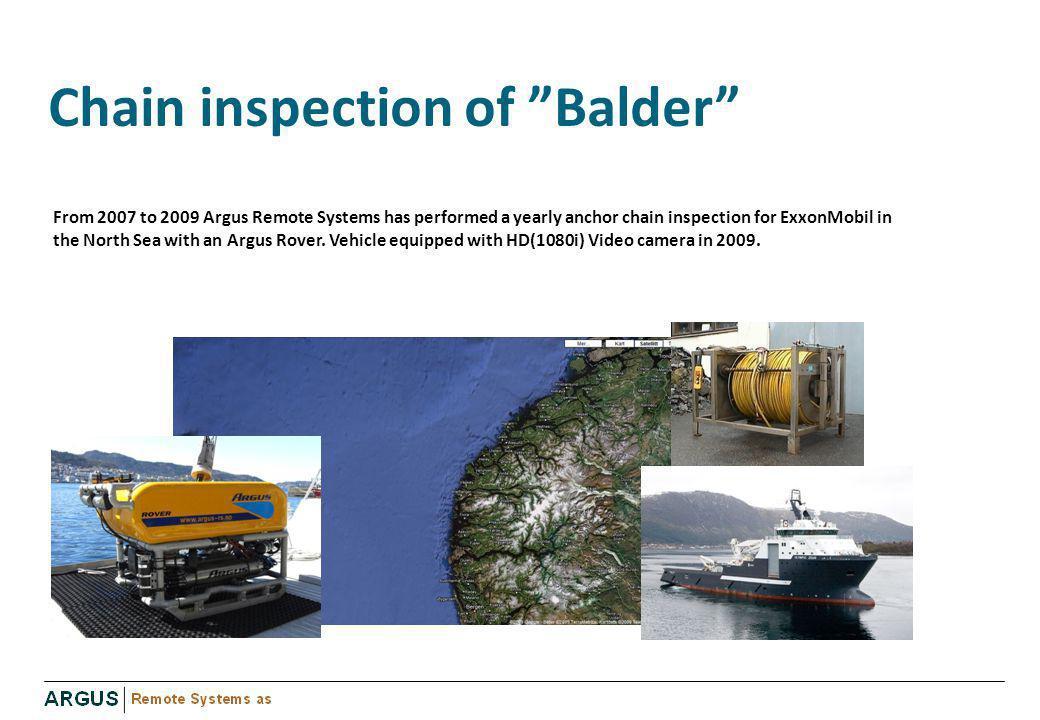 Chain inspection of Balder