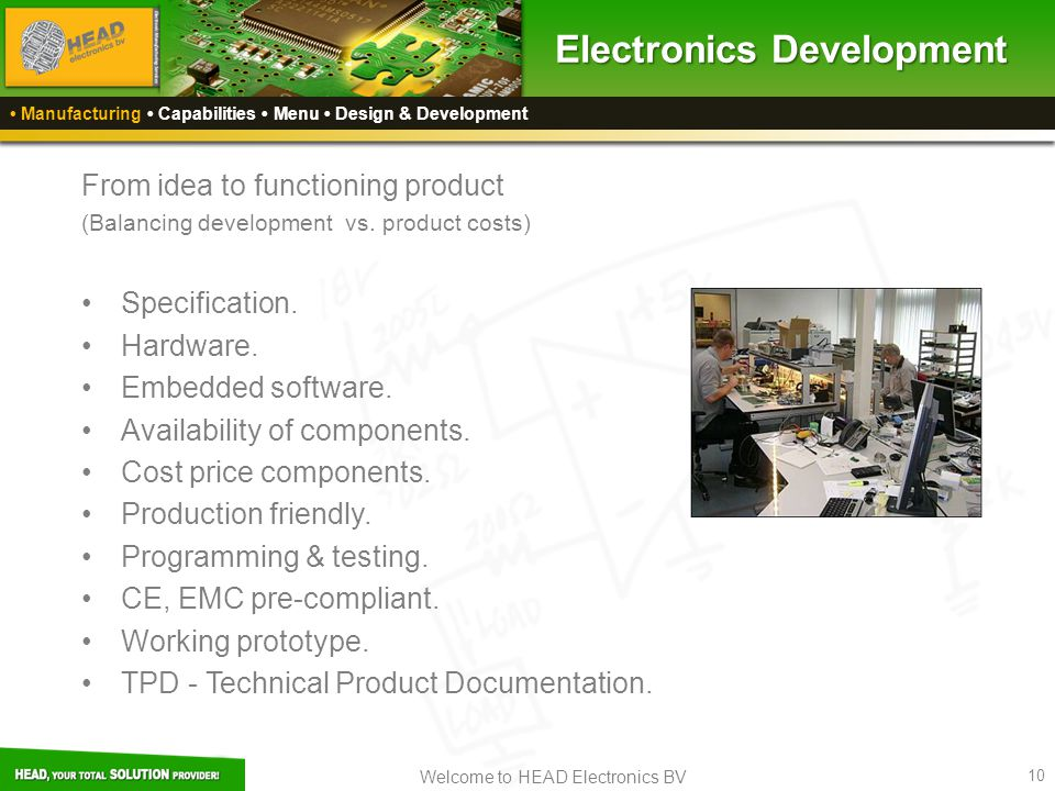 Electronics Development