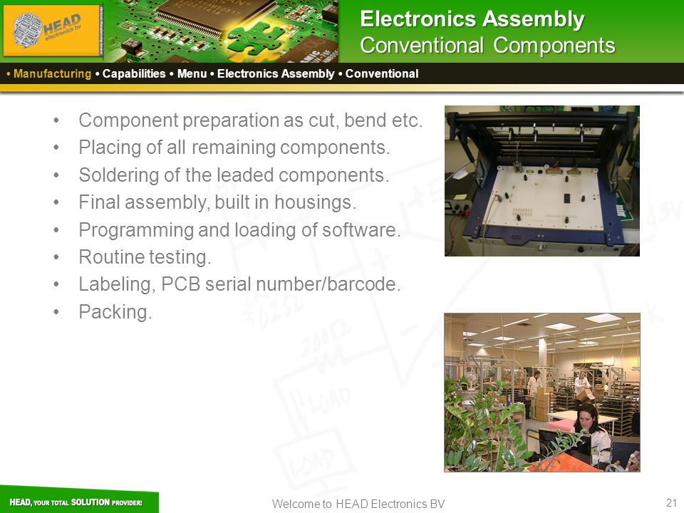 Electronics Assembly Conventional Components
