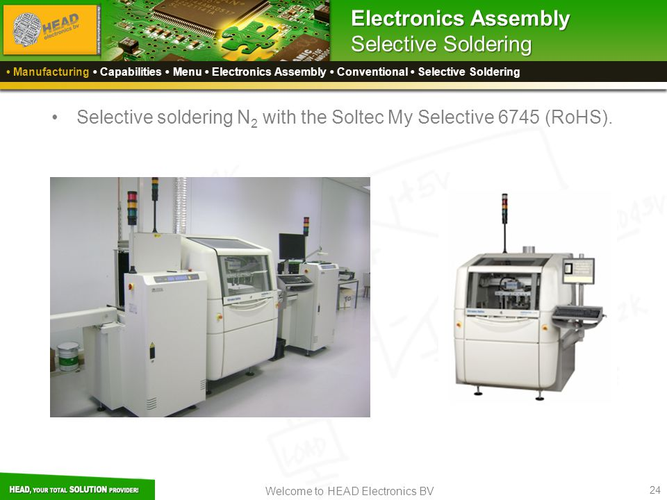 Electronics Assembly Selective Soldering