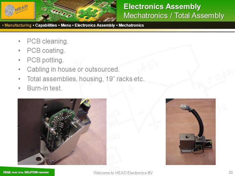 Electronics Assembly Mechatronics / Total Assembly