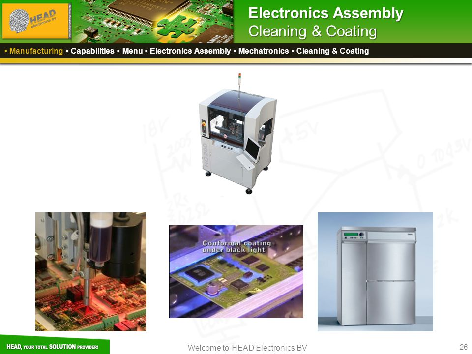 Electronics Assembly Cleaning & Coating