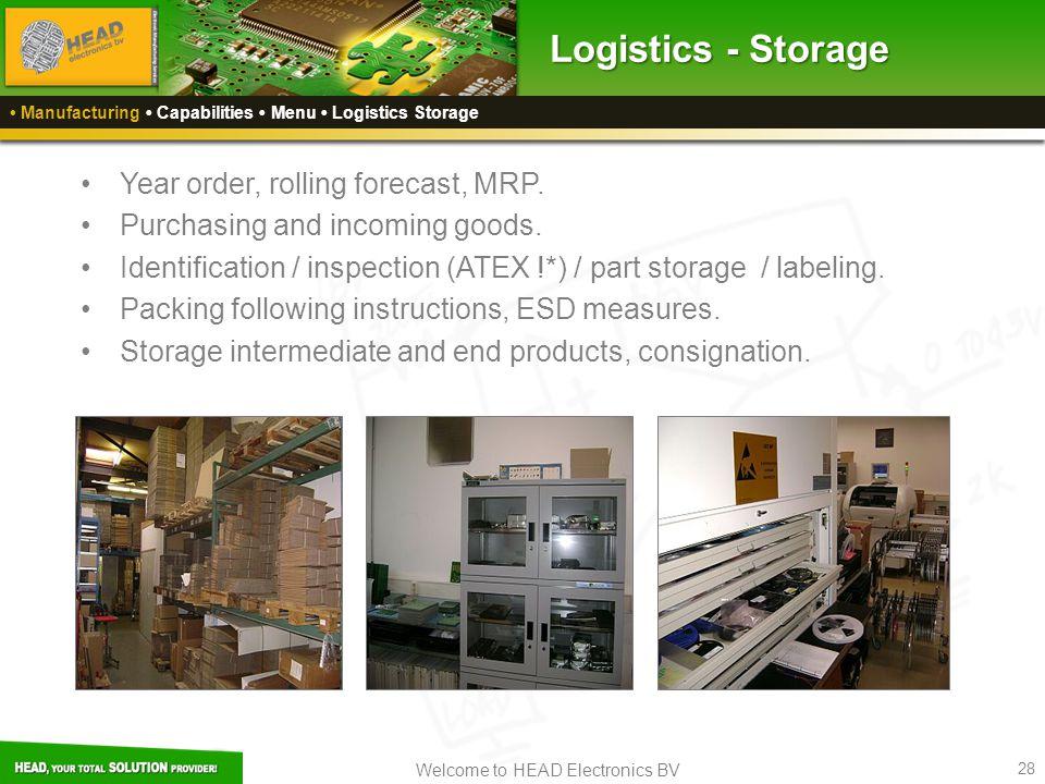 Logistics - Storage Year order, rolling forecast, MRP.