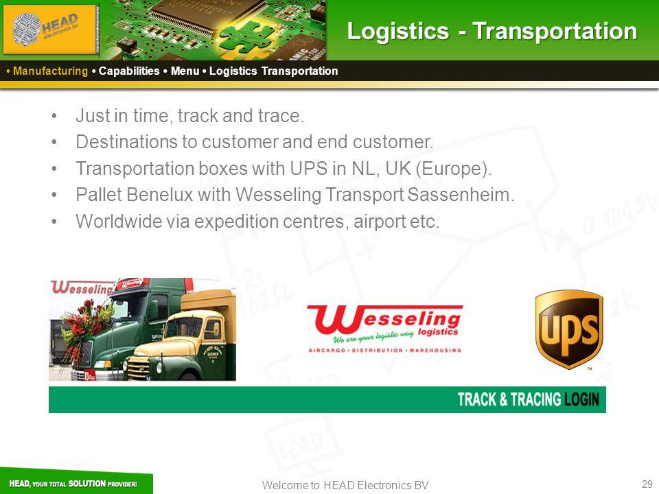 Logistics - Transportation