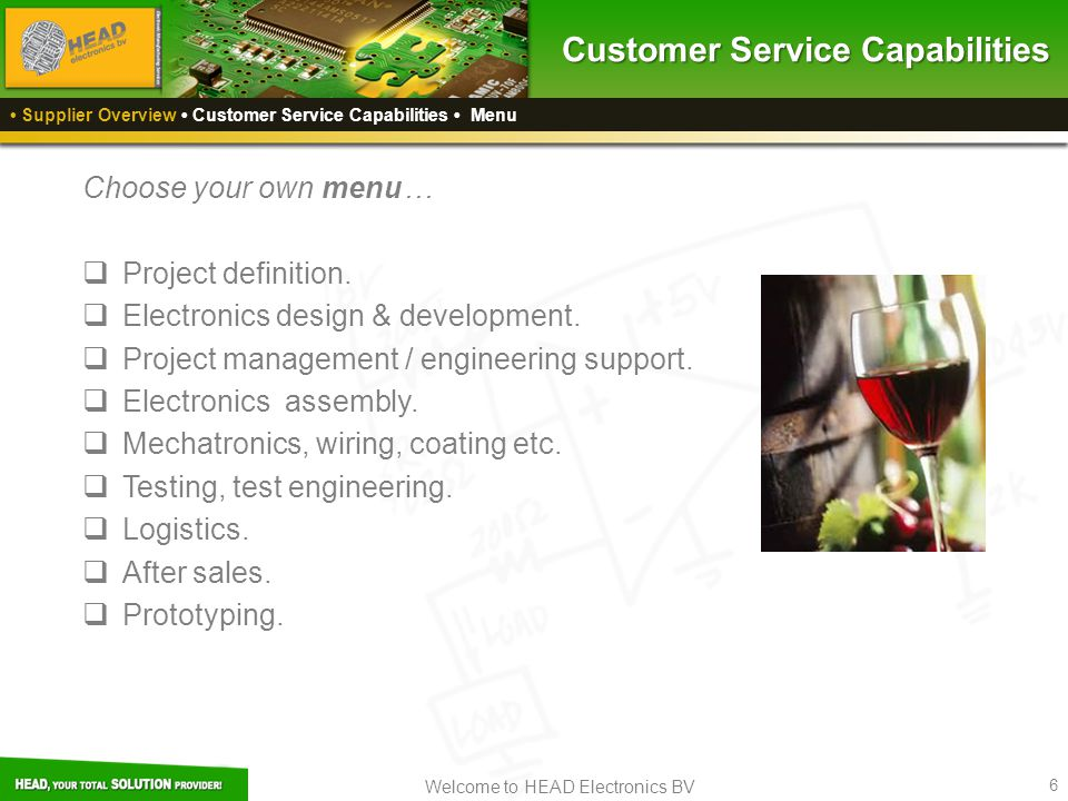 Customer Service Capabilities