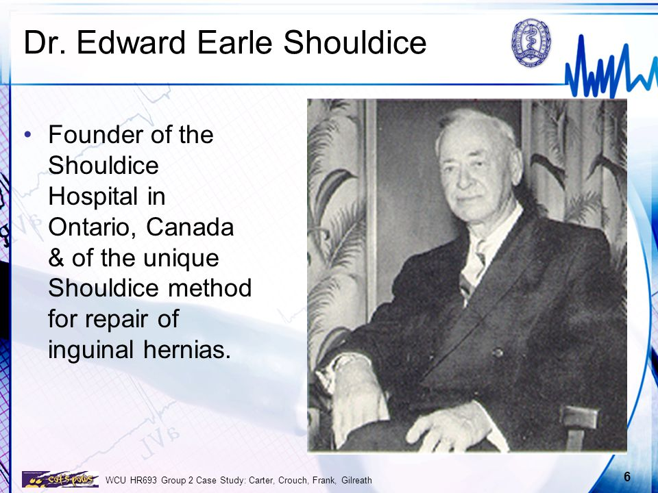 shouldice hospital limited Read this business essay and over 88,000 other research documents shouldice hospital limited shouldice hospital limited summary/abstract: shouldice is a private hospital founded by dr earle shouldice in toronto in july 1945.