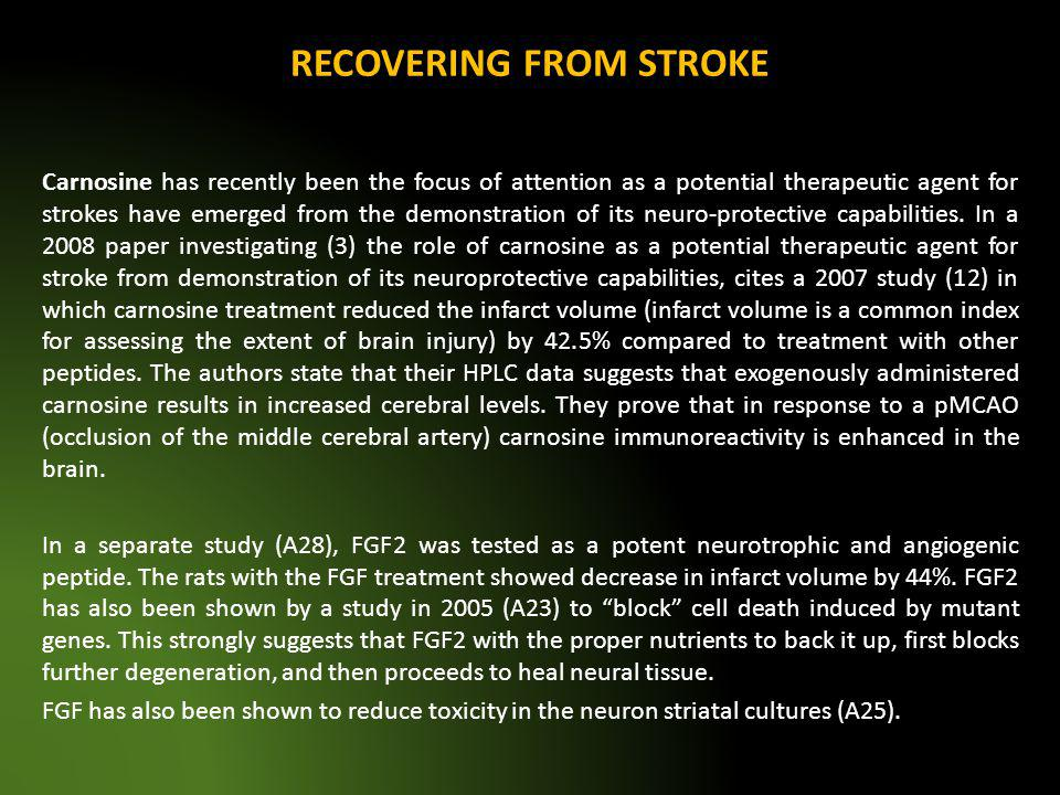 RECOVERING FROM STROKE