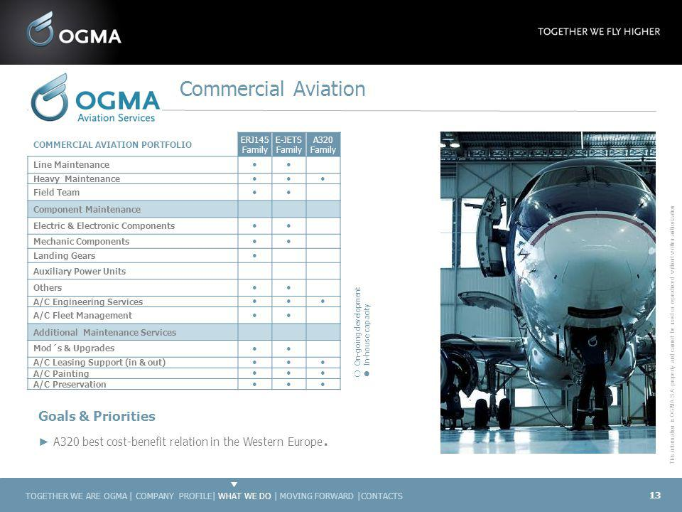 Commercial Aviation Goals & Priorities