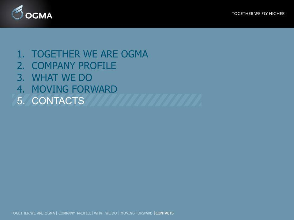 TOGETHER WE ARE OGMA COMPANY PROFILE WHAT WE DO MOVING FORWARD