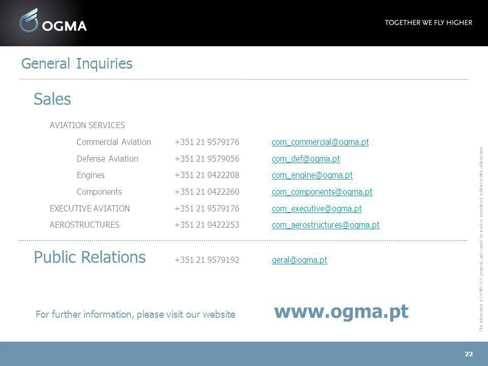 Public Relations +351 21 9579192 geral@ogma.pt