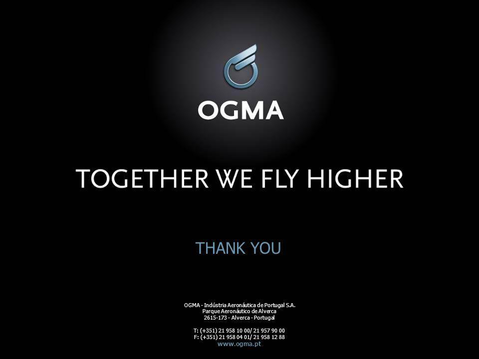 THANK YOU www.ogma.pt OGMA - Indústria Aeronáutica de Portugal S.A.