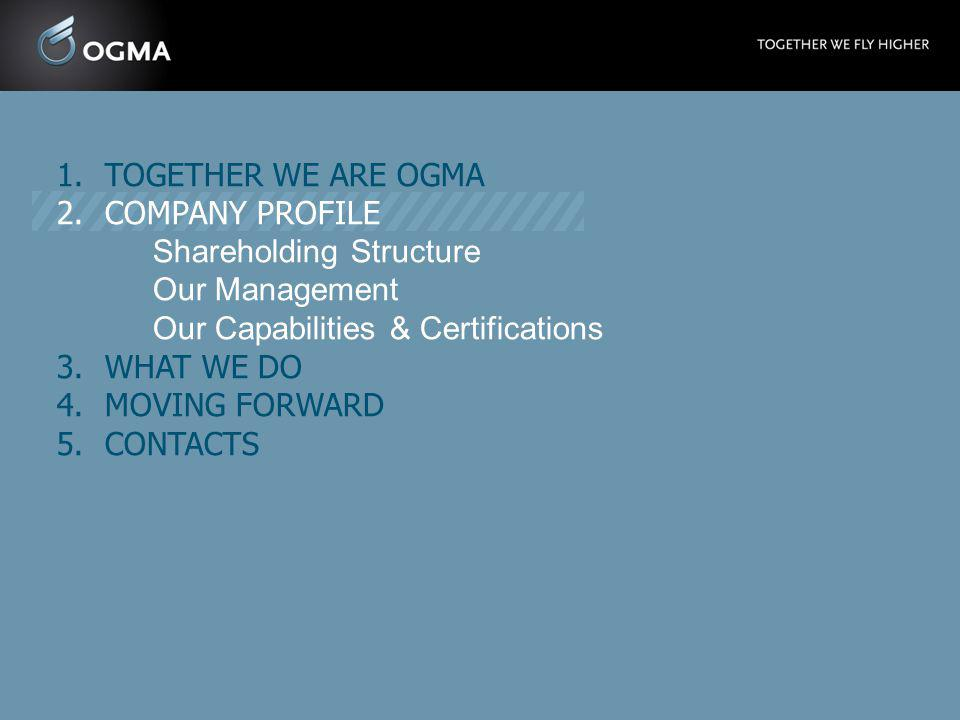 TOGETHER WE ARE OGMA COMPANY PROFILE. Shareholding Structure. Our Management. Our Capabilities & Certifications.