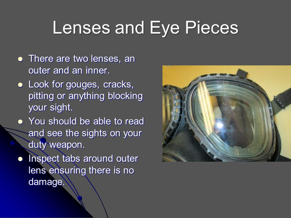 Lenses and Eye Pieces There are two lenses, an outer and an inner.