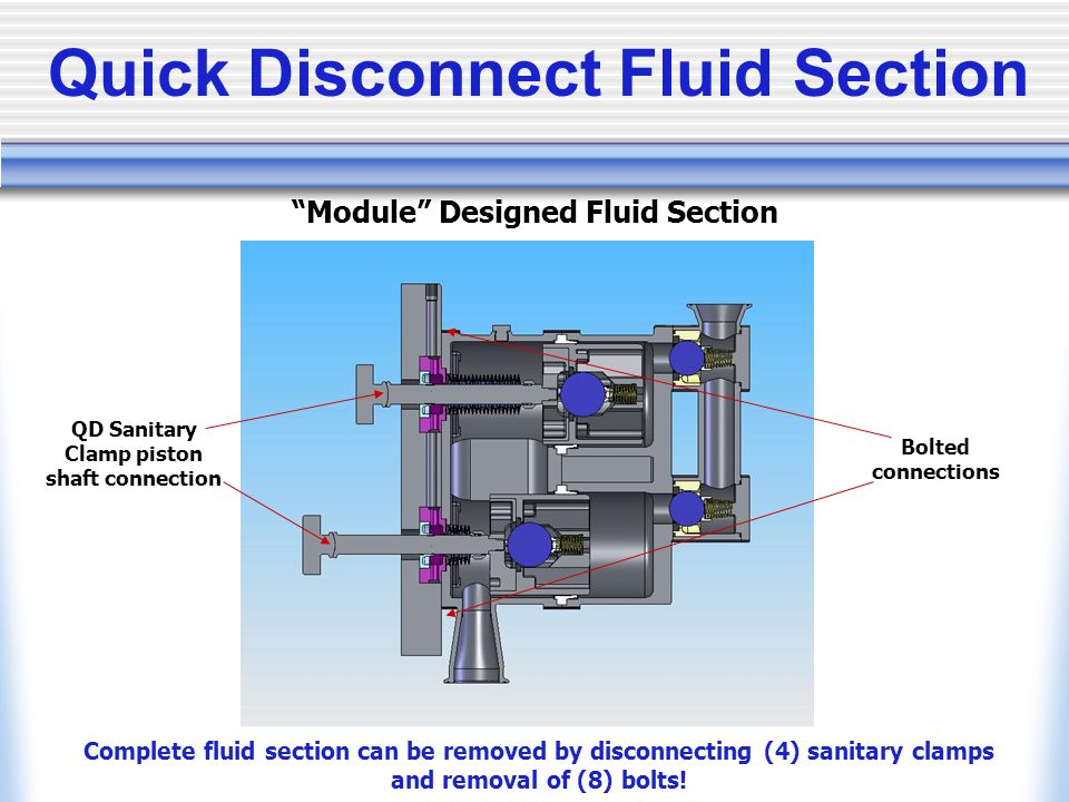 Quick Disconnect Fluid Section