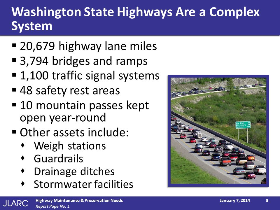Washington State Highways Are a Complex System